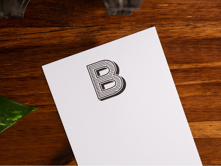 Initialed Note Cards by Black Ink - 4