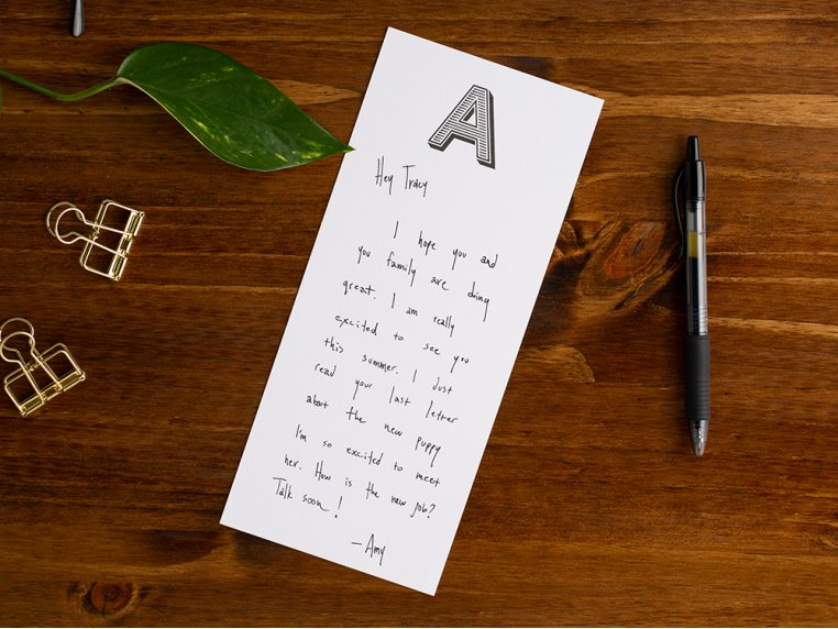 Initialed Note Cards by Black Ink - 1
