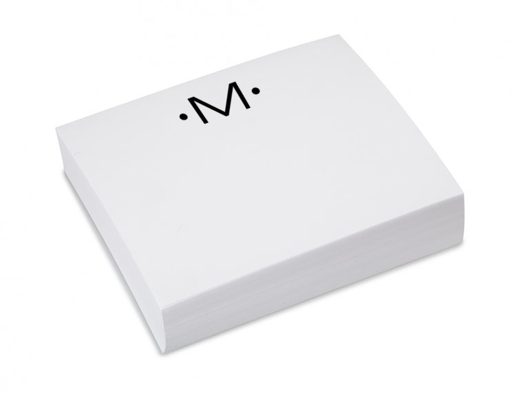 Initialed Notepad Stationery by Black Ink - 15