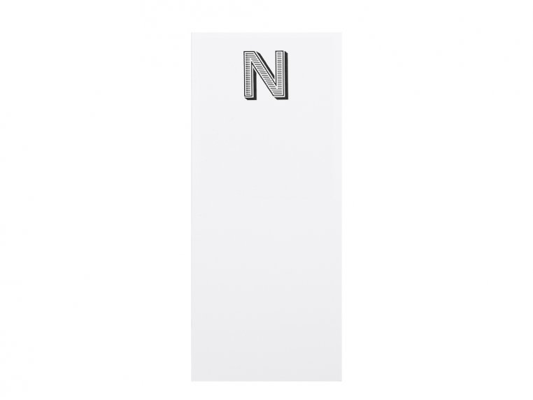 Initialed Note Cards by Black Ink - 18