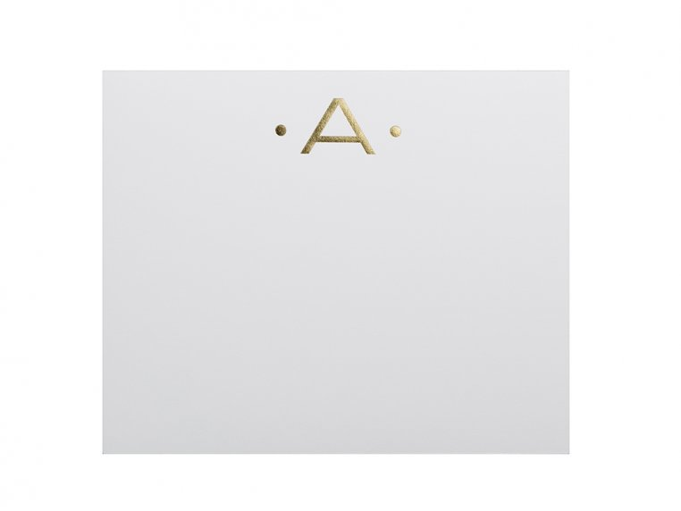 Gold Initialed Notepad Stationery by Black Ink - 6