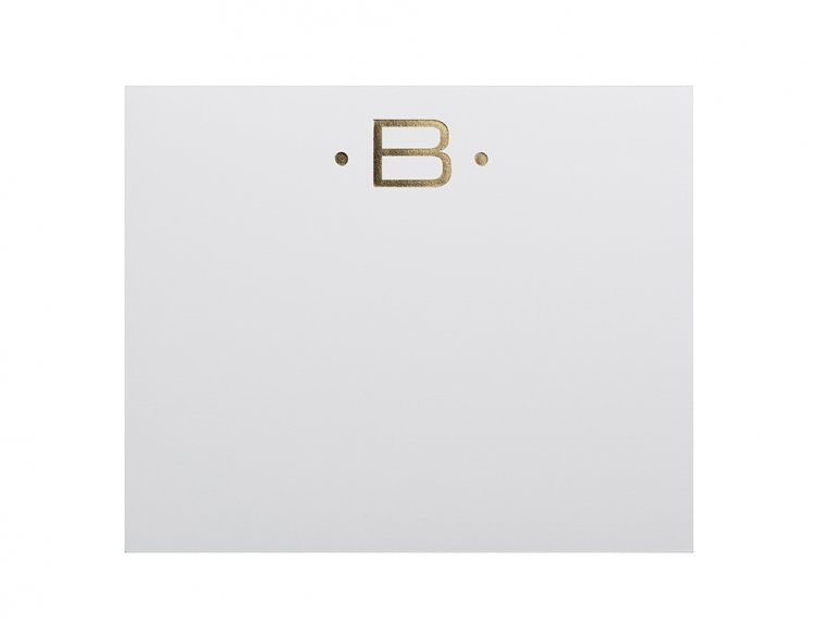 Gold Initialed Notepad Stationery by Black Ink - 7