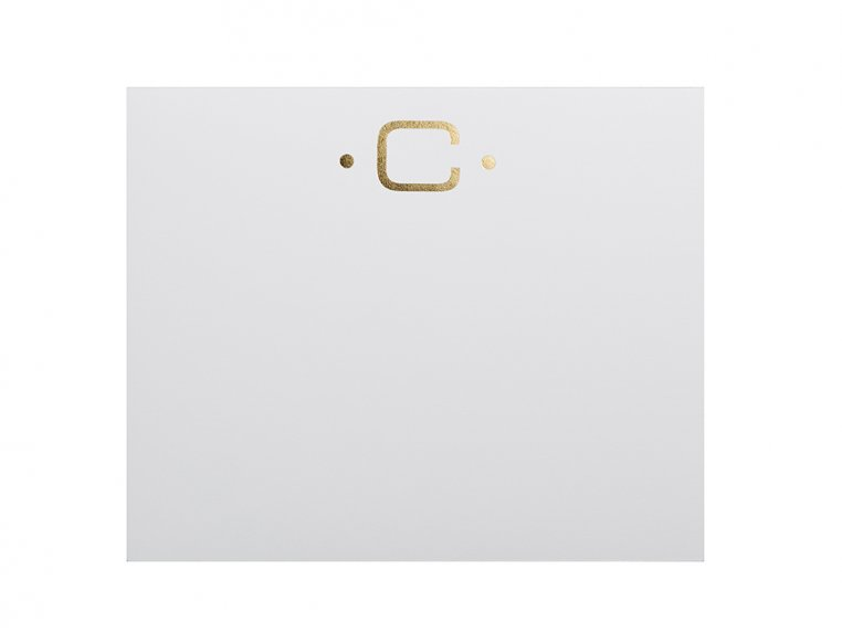 Gold Initialed Notepad Stationery by Black Ink - 8
