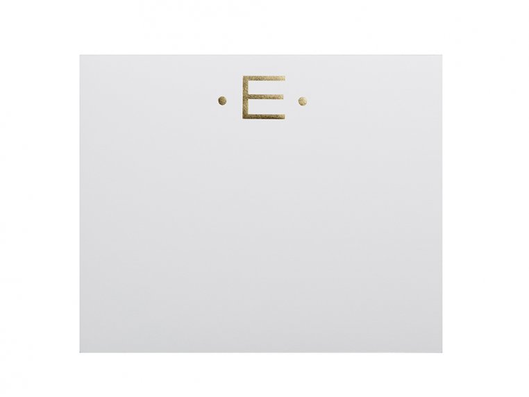 Gold Initialed Notepad Stationery by Black Ink - 9
