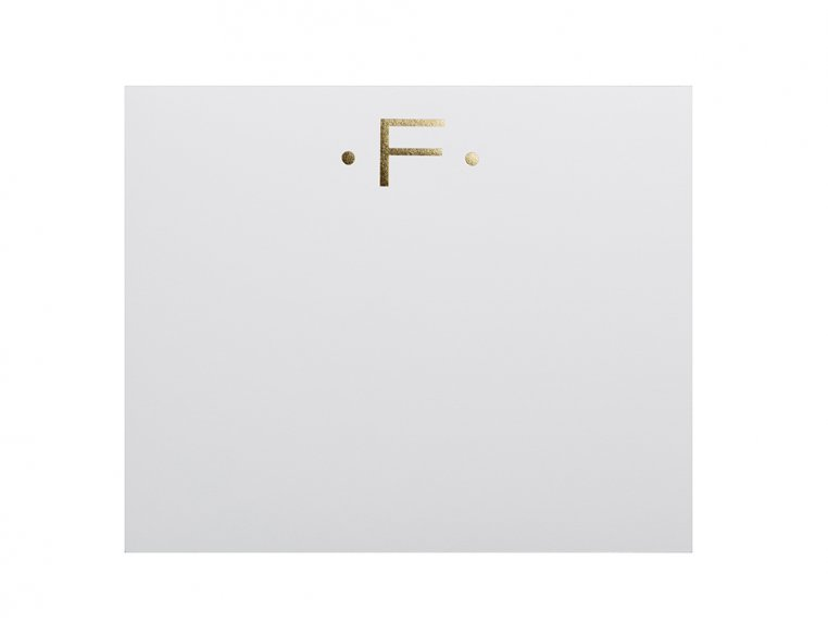 Gold Initialed Notepad Stationery by Black Ink - 10