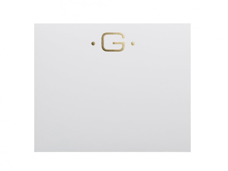 Gold Initialed Notepad Stationery by Black Ink - 11
