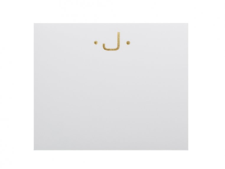 Gold Initialed Notepad Stationery by Black Ink - 13