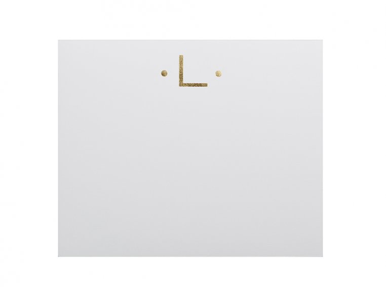 Gold Initialed Notepad Stationery by Black Ink - 15