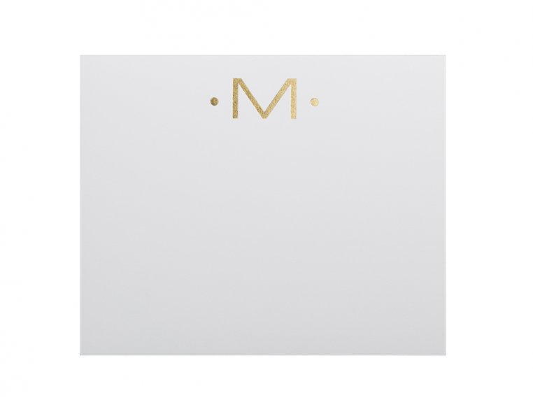 Gold Initialed Notepad Stationery by Black Ink - 16