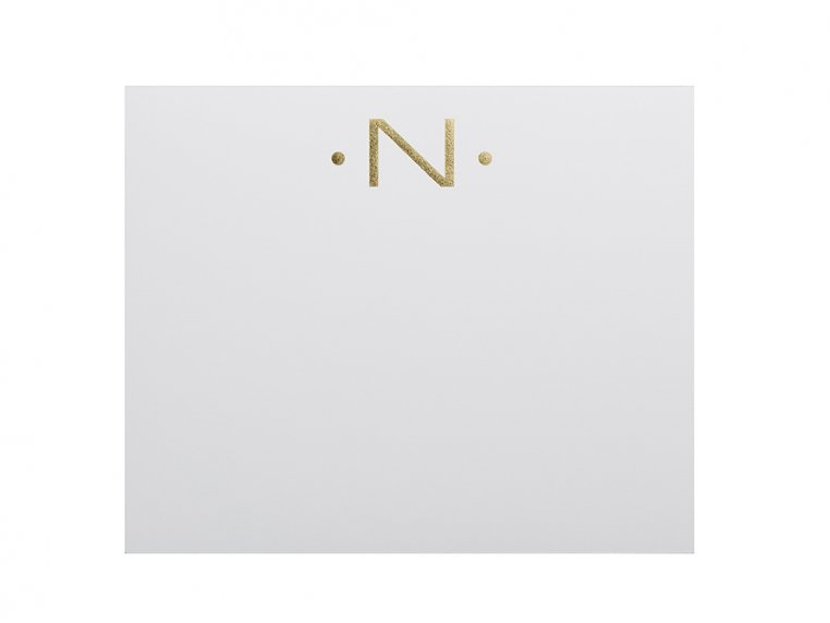 Gold Initialed Notepad Stationery by Black Ink - 17
