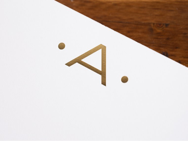 Gold Initialed Notepad Stationery by Black Ink - 3