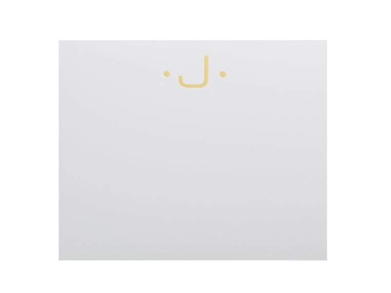 Gold Initialed Notepad Stationery by Black Ink - 14
