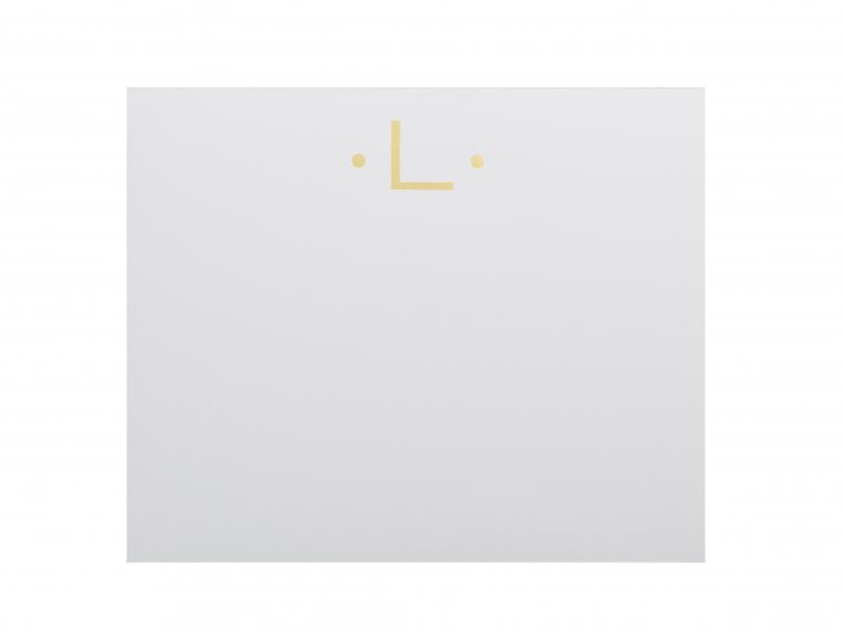 Gold Initialed Notepad Stationery by Black Ink - 19