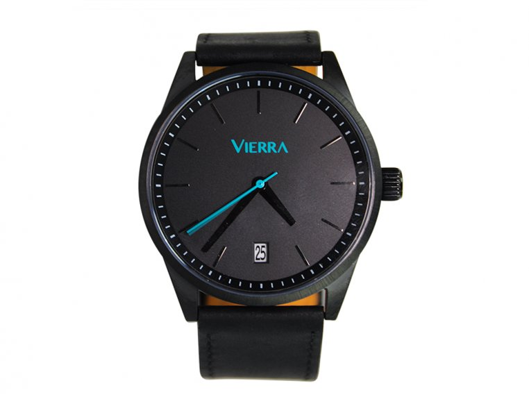 Men's Minimalist Leather Watch by Vierra - 6