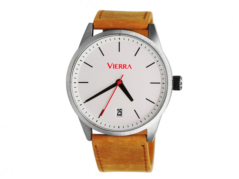 Men's Minimalist Leather Watch by Vierra - 7