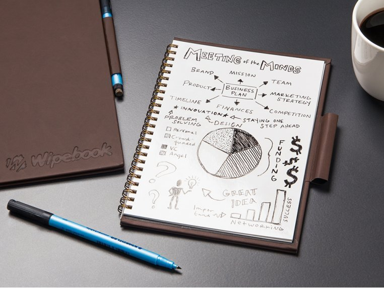 Reusable Whiteboard Notebook by Wipebook Pro - 2