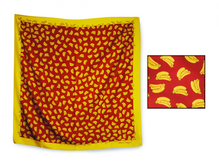 Patterned Silk Scarf by Alexa Sofia - 9