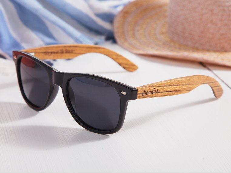 Wooden Retro Square Sunglasses by Woodies - 2