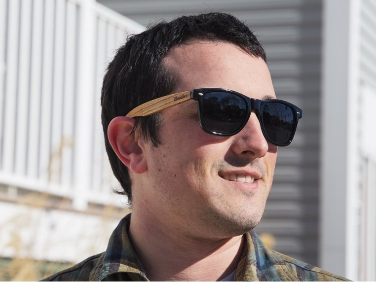 Wooden Retro Square Sunglasses by Woodies - 1