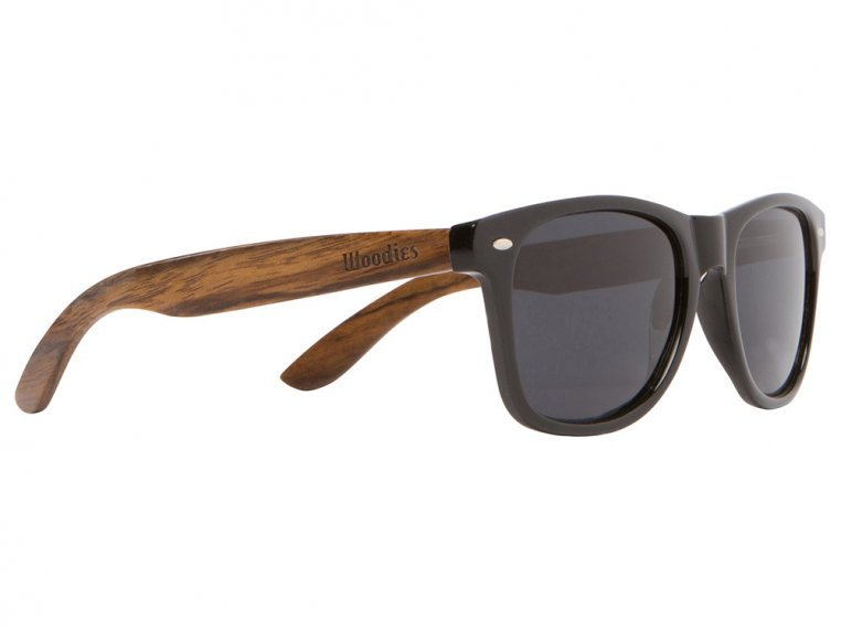 Wooden Retro Square Sunglasses by Woodies - 5