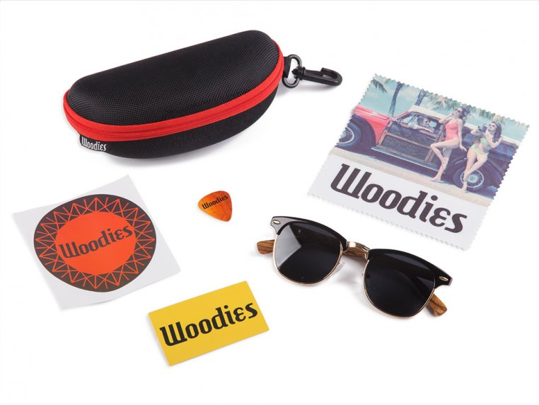 Wooden Browline Sunglasses by Woodies - 3