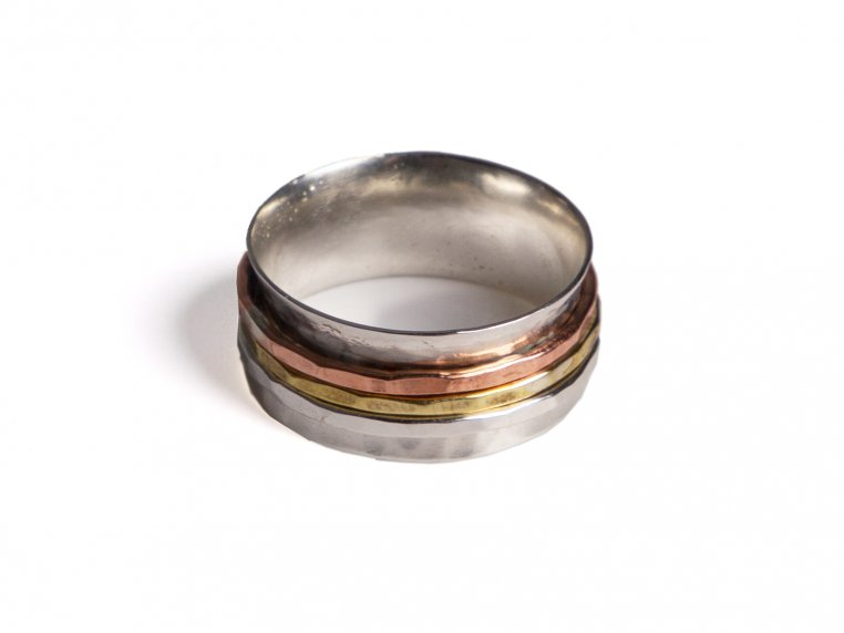Hammered Spinner Ring by Magpie Creative - 9
