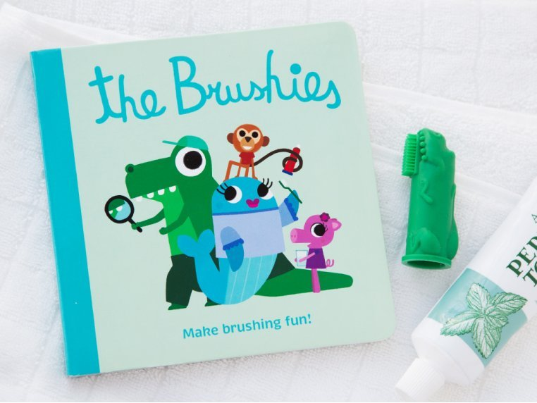 Puppet Toothbrush + Story Book by The Brushies - 1