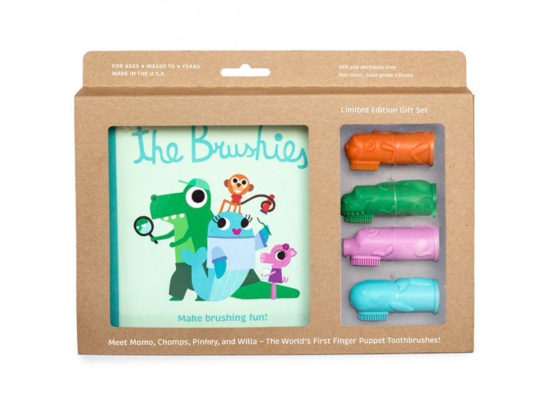 Puppet Toothbrushes Gift Set by The Brushies - 6