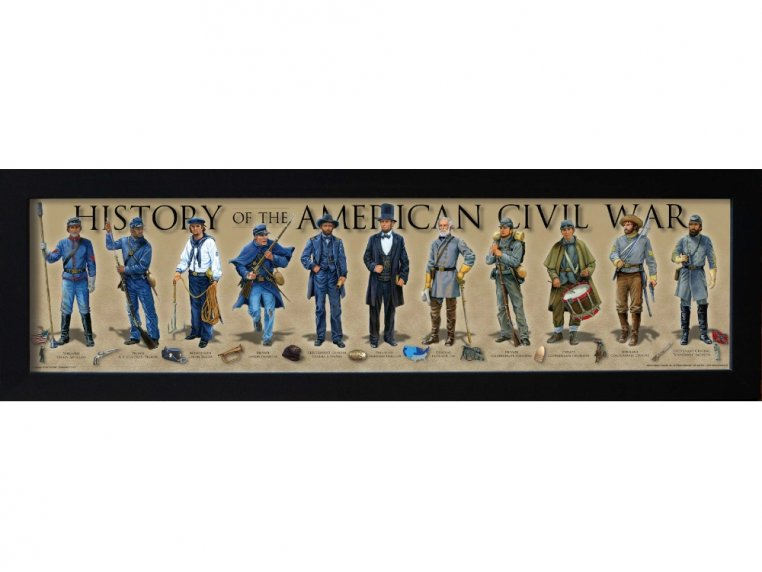 Framed Historical Prints by History America - 11