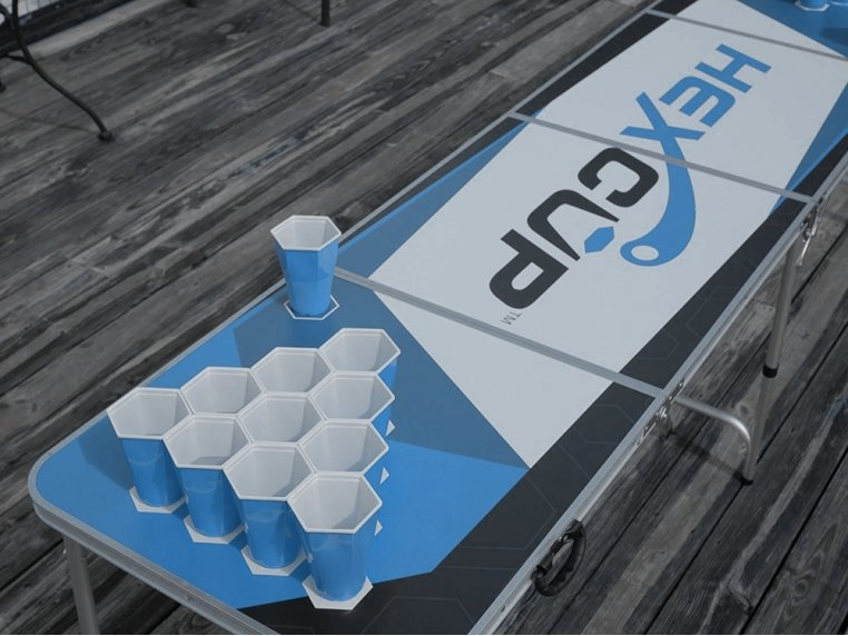 Hexagonal Beer Pong Game by Hexcup - 2
