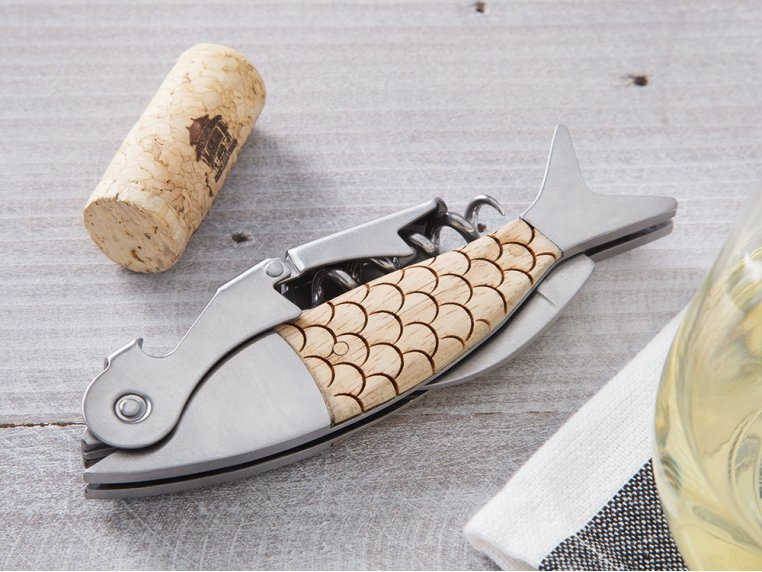 Double Hinged Fish Corkscrew by Sterling Brooke - 2