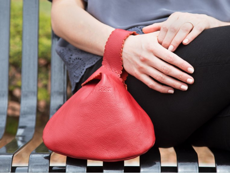Handcrafted Leather Drop Bag by Rubyzaar - 1
