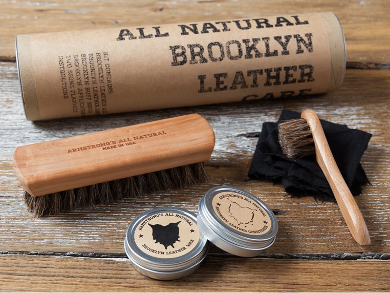 Leather Care Gift Set by Armstrong's All Natural - 1