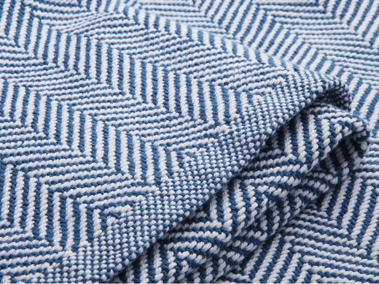 Cotton Blanket with Herringbone by Brahms Mount - 3