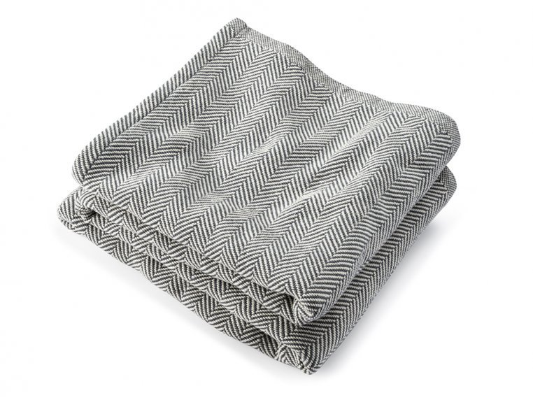 Cotton Blanket with Herringbone by Brahms Mount - 5