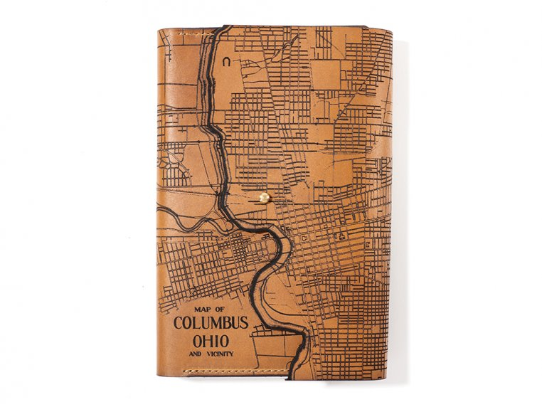 Etched Leather Map Journal by Tactile Craftworks - 4