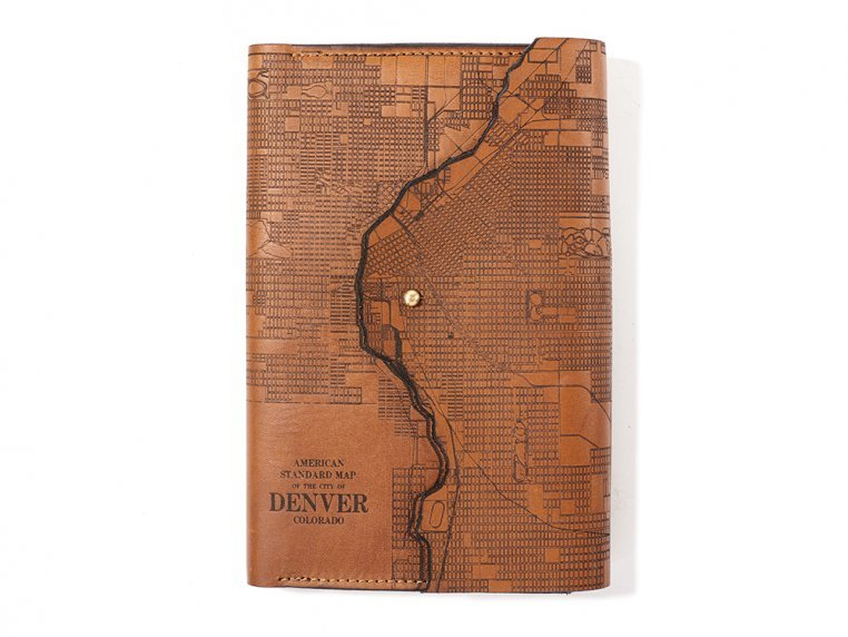 Etched Leather Map Journal by Tactile Craftworks - 6