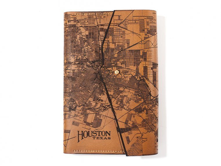 Etched Leather Map Journal by Tactile Craftworks - 5