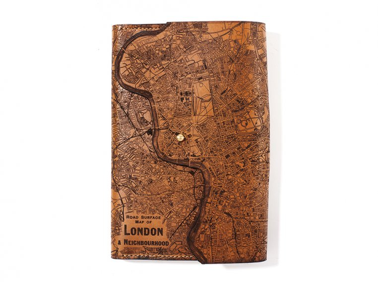 Etched Leather Map Journal - International Cities by Tactile Craftworks - 4
