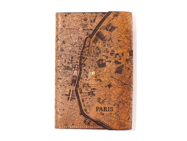 Etched Leather Map Journal - International Cities by Tactile Craftworks - 5