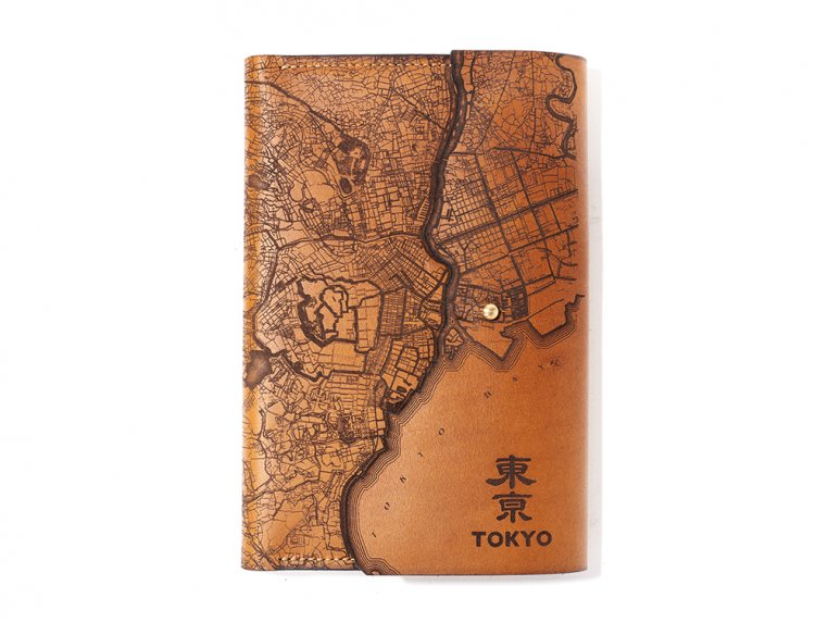 Etched Leather Map Journal - International Cities by Tactile Craftworks - 6