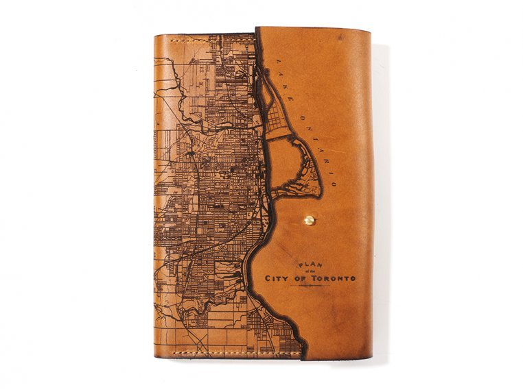 Etched Leather Map Journal - International Cities by Tactile Craftworks - 7