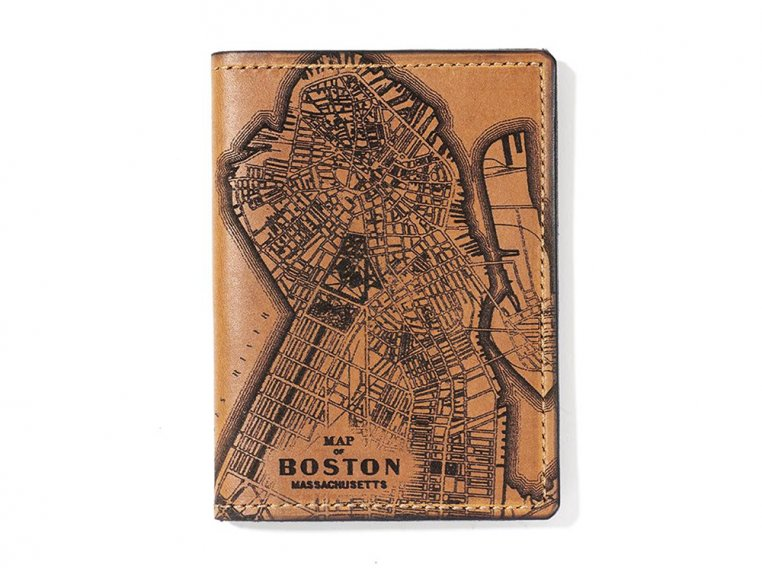 Etched Leather Map Passport Wallet by Tactile Craftworks - 6