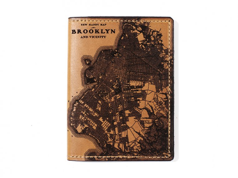 Etched Leather Map Passport Wallet by Tactile Craftworks - 7