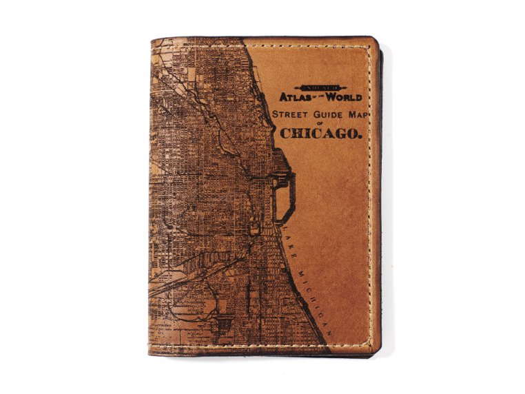 Etched Leather Map Passport Wallet by Tactile Craftworks - 8