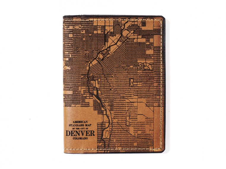 Etched Leather Map Passport Wallet by Tactile Craftworks - 11