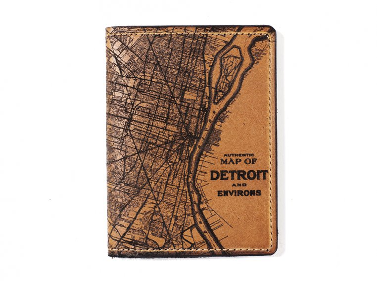Etched Leather Map Passport Wallet by Tactile Craftworks - 12