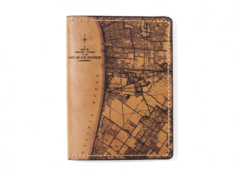 Etched Leather Map Passport Wallet by Tactile Craftworks - 15