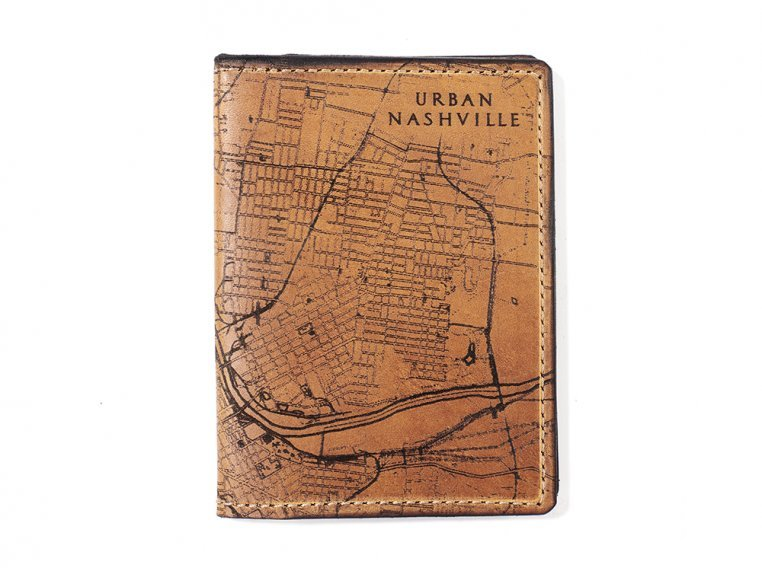 Etched Leather Map Passport Wallet by Tactile Craftworks - 19