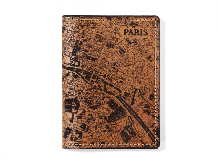 Etched Leather Map Passport Wallet by Tactile Craftworks - 21